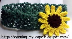 sunflower headband earning my cape sunflower headband free crochet pattern