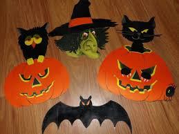 vintage cardboard halloween decorations u2022 halloween decoration