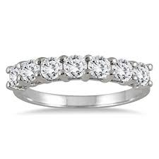 diamond wedding bands for ags certified 1 carat tw seven diamond wedding