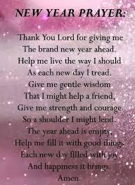 new years prayer dear god dear god