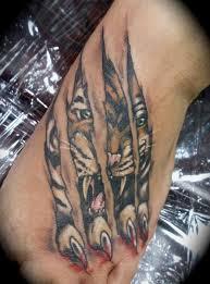 tiger tattoos 30313 tiger ripping through skin