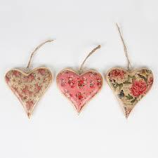 Heart Decorations Home Rachel U0027s Home Wild Flowers Hanging Heart Decoration Pink Assorted
