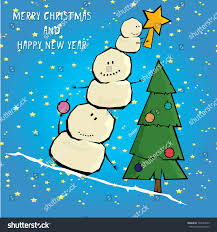 vector comic cartoon merry christmas illustration stock vector