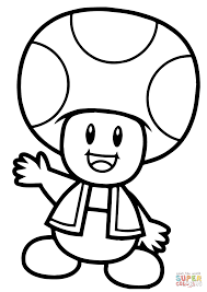 super mario bros toad coloring page free printable coloring pages