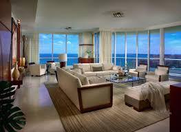 Nice Livingroom Luxurious Beach Themed Living Room With Glass Window Facing Sea
