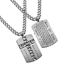 necklace man images Man of god cross chain necklace silver armour in truth jpg