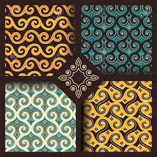 indonesian pattern set of four seamless patterns in vintage indonesian batik islamic