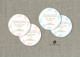 baby shower gift favor tags personalized printable round