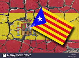 The Spain Flag Eroding Flag Of Spain With Rising Estelada The Spanish Unity Is