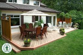 Backyard Deck And Patio Ideas by 375 Square Foot Deck Designs This Low Deck Is