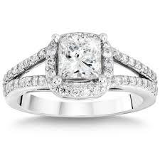 Costco Wedding Rings by Princess Cut U0026 Round Brilliant Diamond Ring 1 42 Ctw Platinum