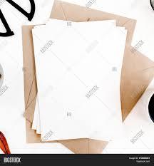 workspace clean paper blank coffee image u0026 photo bigstock