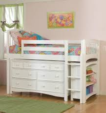 Trundle Bed With Bookcase Headboard Cottage Youth Kids Twin Captain Bed Bookcase Combo Trundle Drawers