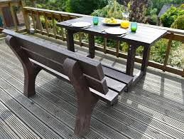 Garden Table Sets 31 Most Killer Denby Table With Riber Seat Lores Recycled Plastic