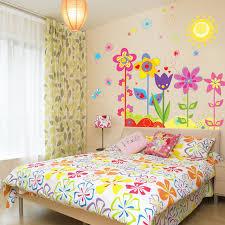 d馗oration chambre en ligne tv fond wall sticker salon chambre enfants chambre mur soleil fleurs