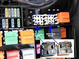 1989 e30 318i m40 fuel pump relay location