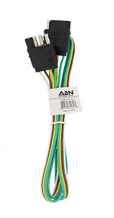 amazon com abn trailer wire extension 4 u0027 foot 4 way 4 pin plug