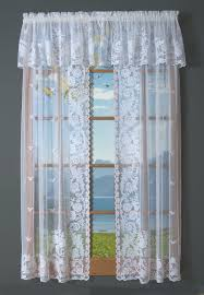 irish point lace tailored curtain pair clearance