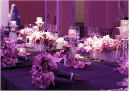 decoration inspiring picture of purple nuance wedding table