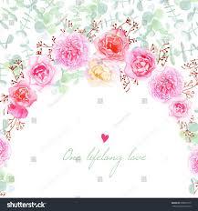Card Invitation Wedding Flowers Vector Card Invitation Template Stock Vector