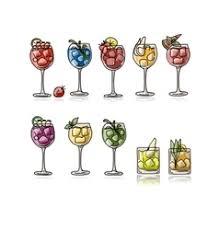 cocktail royalty free vector image vectorstock