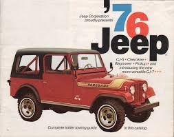 orange jeep cj amc 1976 jeep sales brochure