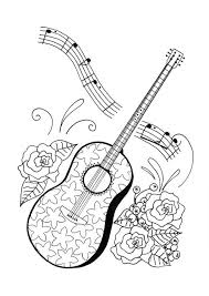 large guitar coloring page guitar coloring pages crafts