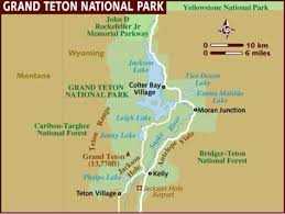 Grand Teton Map Grand Teton By Corbin Bernal
