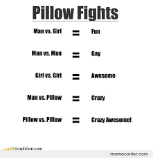 Pillow Fight Meme - the first rule of pillow fight club by ben meme center
