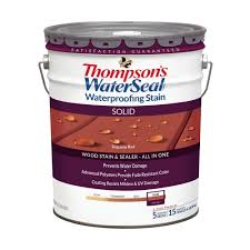 thompson u0027s waterseal 5 gal solid sequoia red waterproofing stain