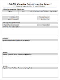 corrective action form template 5 corrective action report