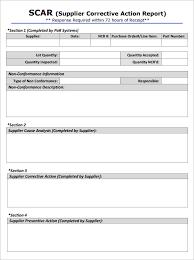 non conformance report template corrective form template fieldstation co