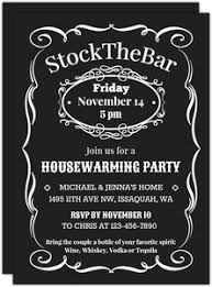 stock the bar party stock the bar housewarming party invitation housewarming invitations