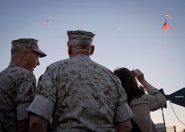 Marines Holding Flag Photos