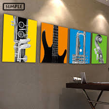 musical home decor aliexpress com buy oil painting canvas musical instruments wall