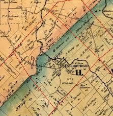 Salem Virginia Map by Harlan Township 1867 Wall Map Of Warren County