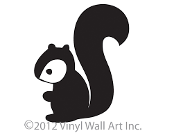 woodland squirrel decal sticker vinyl wall art size small