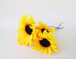 silk sunflowers 5 artificial sunflowers silk flowers big yellow sunflowers 5
