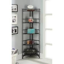 nice corner bookcase ideas black polished wrought iron corner