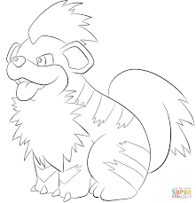 growlithe coloring page free printable coloring pages