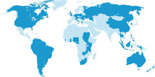 Israel World Map by Christians For Israel International Head Office Christians For