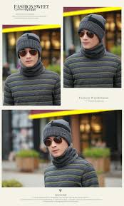 Warm Situation Men Female Warm Winter Cap Scarf Twinset Thick Cloth Knit Hat
