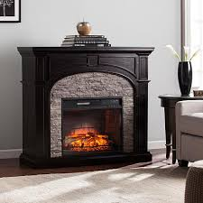 amazon black friday infrared fireplace tanaya infrared electric fireplace ebony with gray faux stone