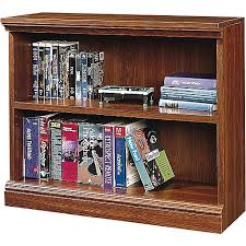 sauder 2 shelf bookcase sauder premier 36 2 shelf bookcase planked cherry 1782 100