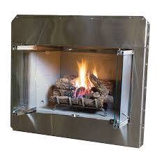 shop stainless steel outdoor vented wood burning fireplace insert