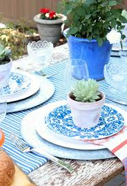 Flea Market Style Outdoor Table Setting Satori Design For Living - Design a table setting
