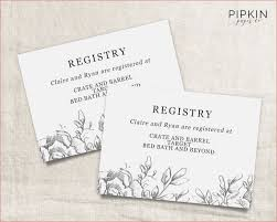 wedding registry cards customizable wedding registry cards by basic invite dogobedience co
