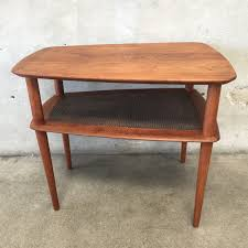 Teak Side Table Vintage Mid Century Modern Teak Side Table By Peter Hvidt