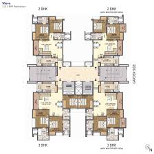 lodha grandezza layout and floor plans of 2 and 3 bhk flats homes