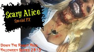 scary alice in wonderland makeup sfx down the rabbit hole